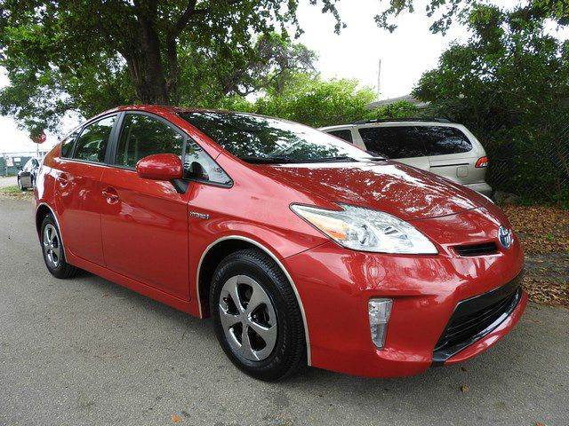 2014 TOYOTA PRIUS THREE 4DR HATCHBACK red  call 866-378-7964 for sales  this 2014 toyota pr