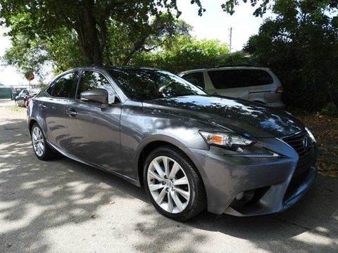 2014 Lexus IS 250 for sale at SUPER DEAL MOTORS in Hollywood FL