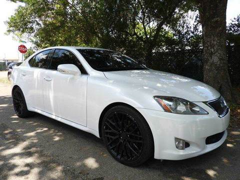 2010 Lexus IS 250 for sale at SUPER DEAL MOTORS in Hollywood FL