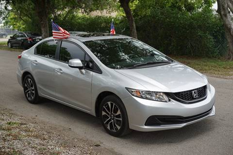 2013 Honda Civic for sale at SUPER DEAL MOTORS in Hollywood FL