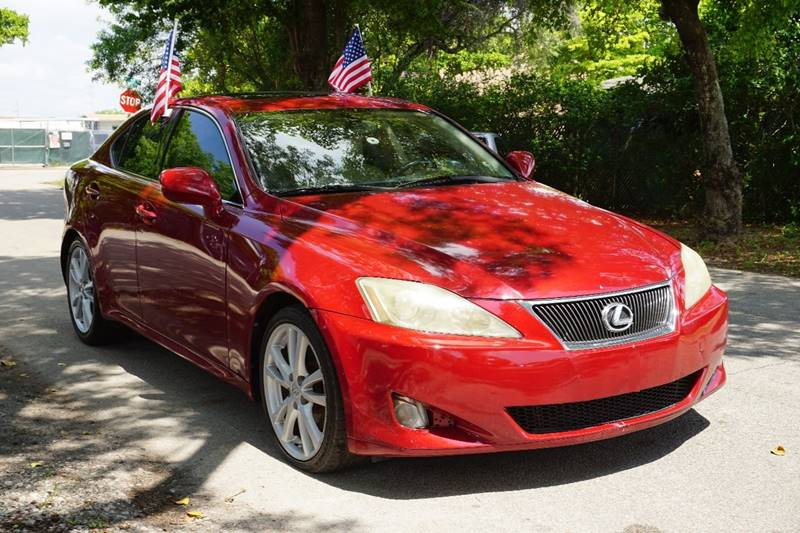 2007 LEXUS IS 250 BASE 4DR SEDAN 25L V6 6A red  call 866-378-7964 for sales  this 2007 l