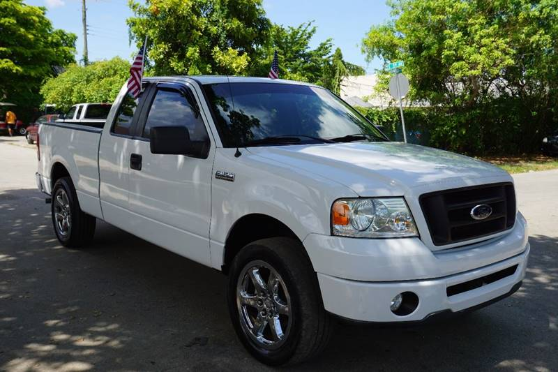 2007 FORD F-150 STX 4DR SUPERCAB STYLESIDE 65 F white  call 866-378-7964 for sales  this 2