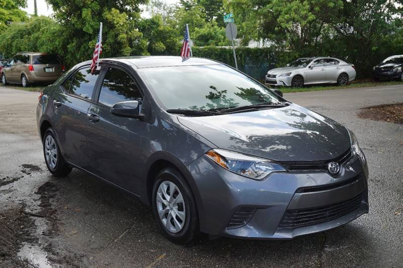2015 TOYOTA COROLLA LE ECO 4DR SEDAN gray  call 866-378-7964 for sales  this 2015 toyota co