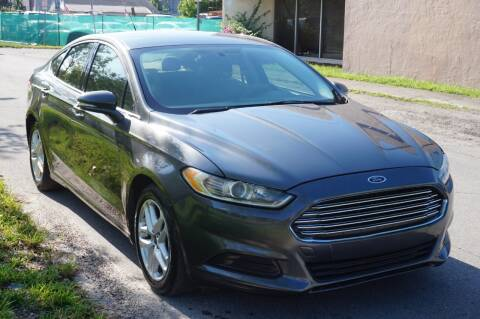 2016 Ford Fusion for sale at SUPER DEAL MOTORS in Hollywood FL