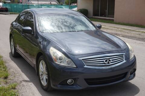 2012 Infiniti G25 Sedan for sale at SUPER DEAL MOTORS in Hollywood FL