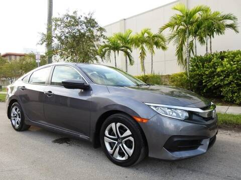 2018 Honda Civic for sale at SUPER DEAL MOTORS in Hollywood FL