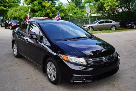 2012 Honda Civic for sale at SUPER DEAL MOTORS in Hollywood FL