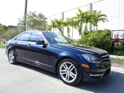 2014 Mercedes-Benz C-Class for sale at SUPER DEAL MOTORS in Hollywood FL