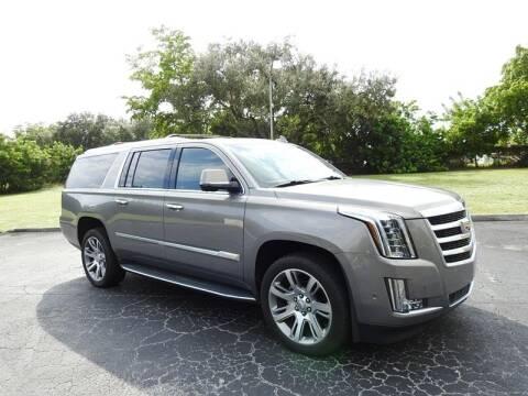 2018 Cadillac Escalade ESV for sale at SUPER DEAL MOTORS in Hollywood FL
