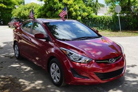 2016 Hyundai Elantra for sale at SUPER DEAL MOTORS in Hollywood FL