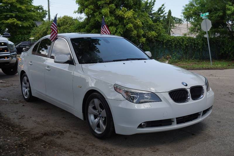 2007 BMW 5 SERIES 525I 4DR SEDAN white  call 866-378-7964 for sales  this 2007 bmw 525i 4dr
