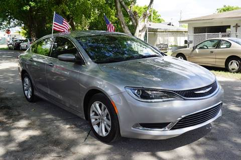 2015 Chrysler 200 for sale at SUPER DEAL MOTORS in Hollywood FL