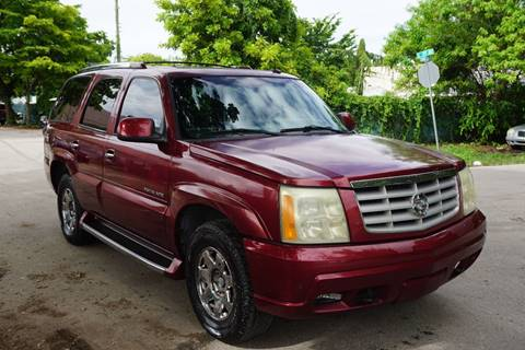 2003 Cadillac Escalade for sale at SUPER DEAL MOTORS in Hollywood FL