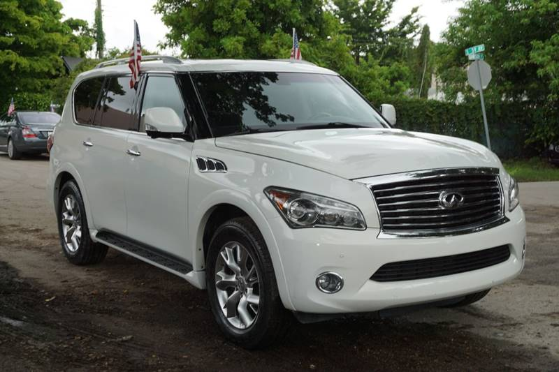 2013 INFINITI QX56 BASE 4X4 4DR SUV white  call 866-378-7964 for sales  this 2013 infiniti