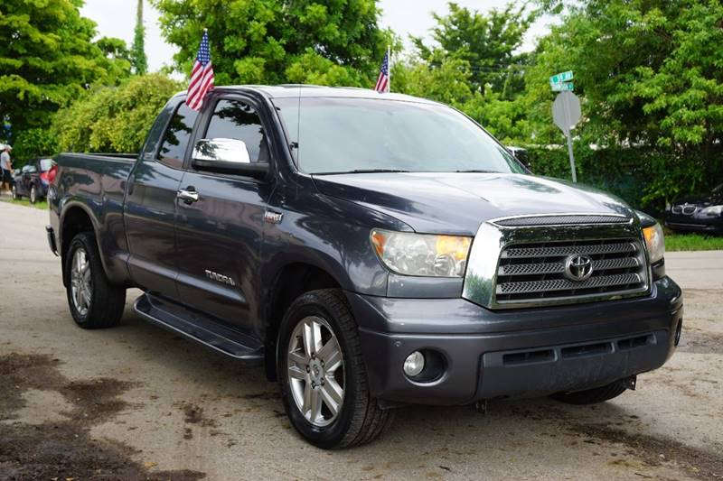 2007 TOYOTA TUNDRA LIMITED 4DR DOUBLE CAB SB 57L gray  call 866-378-7964 for sales  this