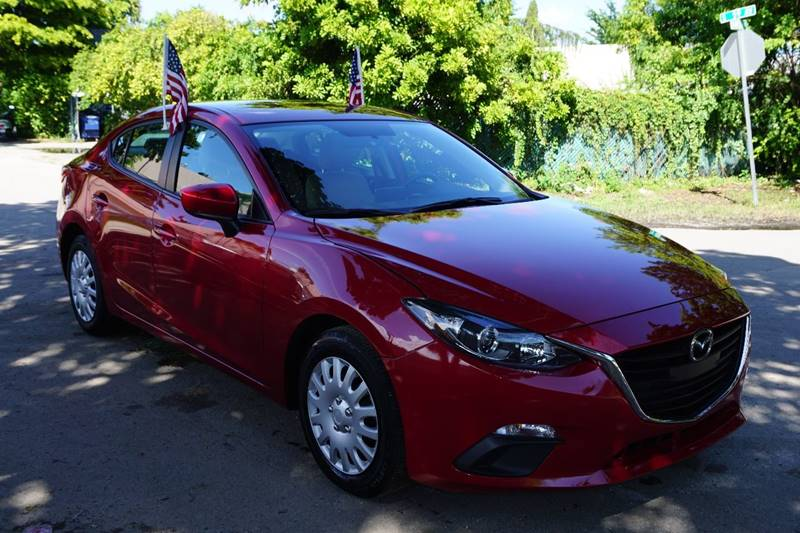 2015 MAZDA MAZDA3 I SPORT 4DR SEDAN 6A red  call 866-378-7964 for sales  this 2015 mazda 3