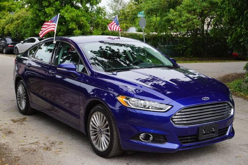 2016 FORD FUSION TITANIUM 4DR SEDAN blue  call 866-378-7964 for sales  this 2016 ford fusio