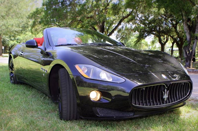 2011 MASERATI GRANTURISMO BASE 2DR CONVERTIBLE black  call 866-378-7964 for sales  this 201