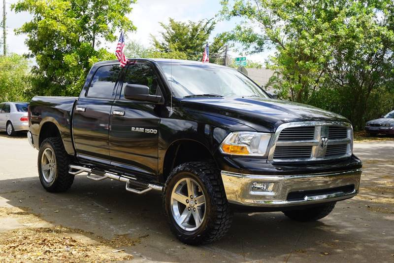 2012 RAM RAM PICKUP 1500 BIG HORN 4X4 4DR CREW CAB 55 FT black  call 866-378-7964 for sales