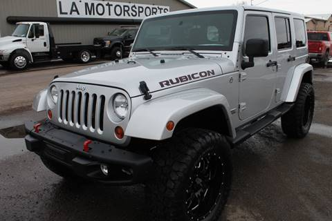 2012 Jeep Wrangler Unlimited for sale at LA MOTORSPORTS in Windom MN