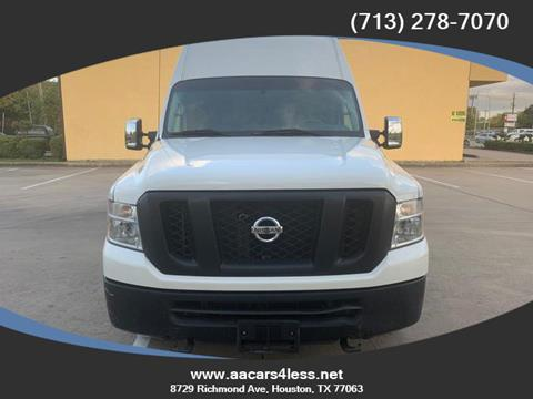 2016 Nissan NV Cargo for sale in Houston, TX