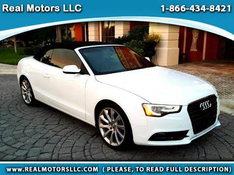 2014 Audi A5 for sale at Real Motors LLC in Clearwater FL