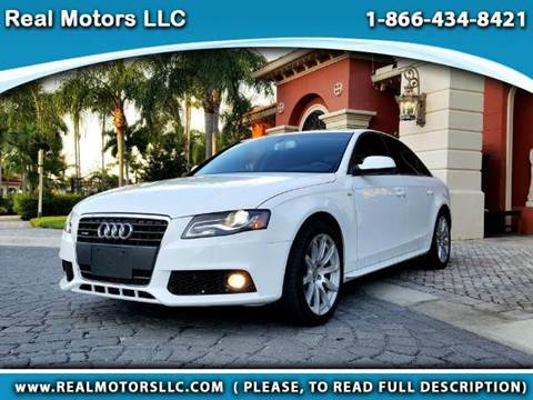 2012 Audi A4 for sale at Real Motors LLC in Clearwater FL