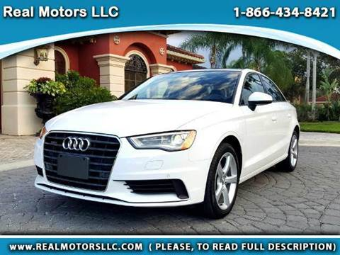 2016 Audi A3 for sale at Real Motors LLC in Clearwater FL