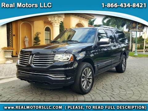 2016 Lincoln Navigator L for sale at Real Motors LLC in Clearwater FL