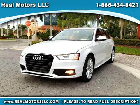 2016 Audi A4 for sale at Real Motors LLC in Clearwater FL