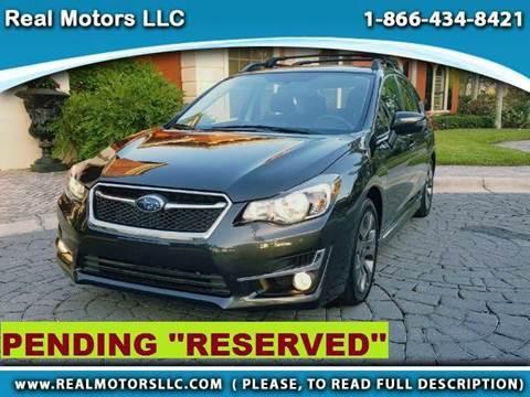 2015 Subaru Impreza for sale at Real Motors LLC in Clearwater FL