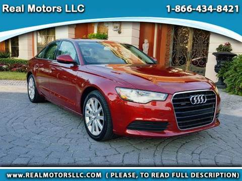 2013 Audi A6 for sale at Real Motors LLC in Clearwater FL