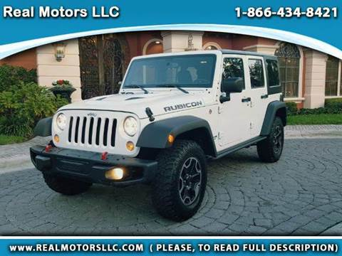 2016 Jeep Wrangler Unlimited for sale at Real Motors LLC in Clearwater FL