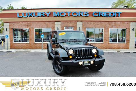 2008 Jeep Wrangler Unlimited for sale at Luxury Motors Credit Inc in Bridgeview IL