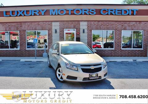 2012 Chevrolet Cruze for sale at Luxury Motors Credit Inc in Bridgeview IL