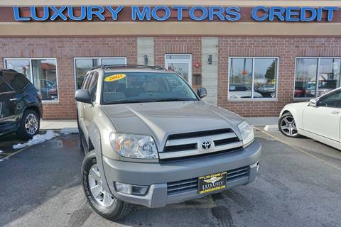 2003 Toyota 4Runner for sale at Luxury Motors Credit Inc in Bridgeview IL