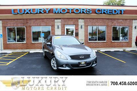 2013 Infiniti G37 Sedan for sale at Luxury Motors Credit Inc in Bridgeview IL