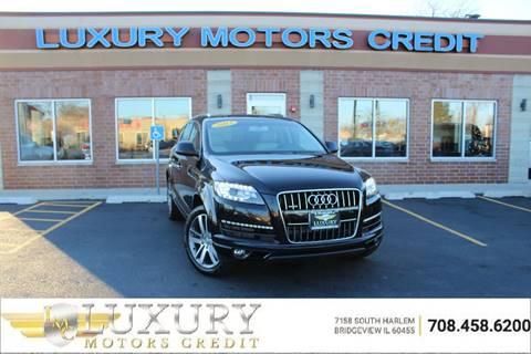 2013 Audi Q7 for sale at Luxury Motors Credit Inc in Bridgeview IL