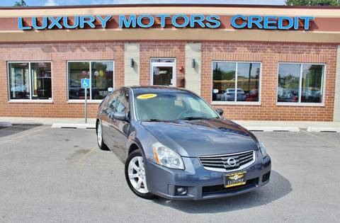 2008 Nissan Maxima for sale at Luxury Motors Credit Inc in Bridgeview IL