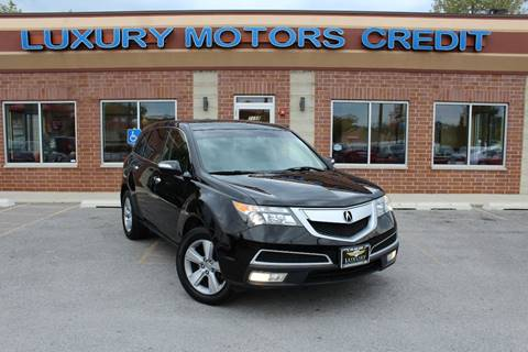 2010 Acura MDX for sale at Luxury Motors Credit Inc in Bridgeview IL