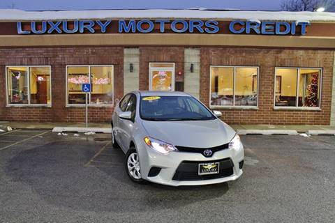 2016 Toyota Corolla for sale at Luxury Motors Credit Inc in Bridgeview IL