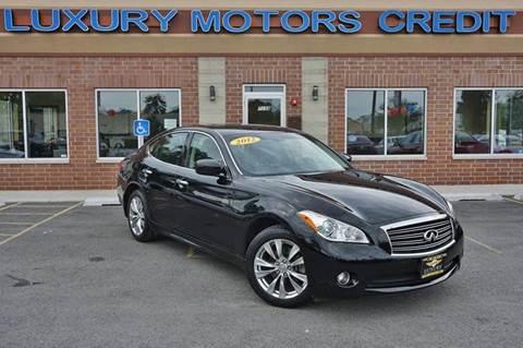 2012 Infiniti M37 for sale at Luxury Motors Credit Inc in Bridgeview IL