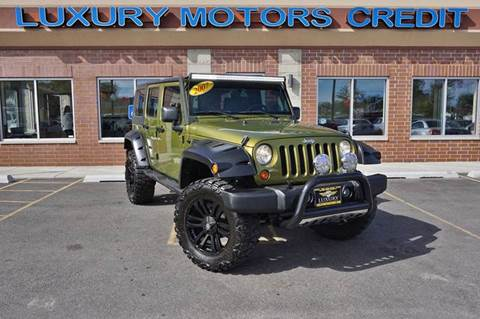 2007 Jeep Wrangler Unlimited for sale at Luxury Motors Credit Inc in Bridgeview IL