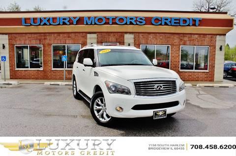 2011 Infiniti QX56 for sale at Luxury Motors Credit Inc in Bridgeview IL