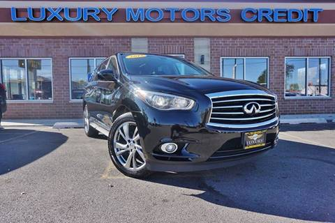 2013 Infiniti JX35 for sale at Luxury Motors Credit Inc in Bridgeview IL