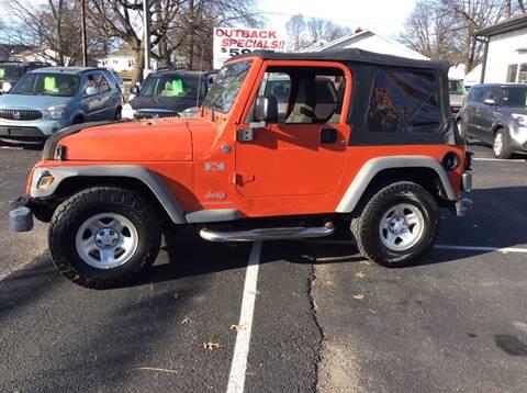 2005 Jeep Wrangler for sale at BISHOP MOTORS inc. in Mount Carmel IL
