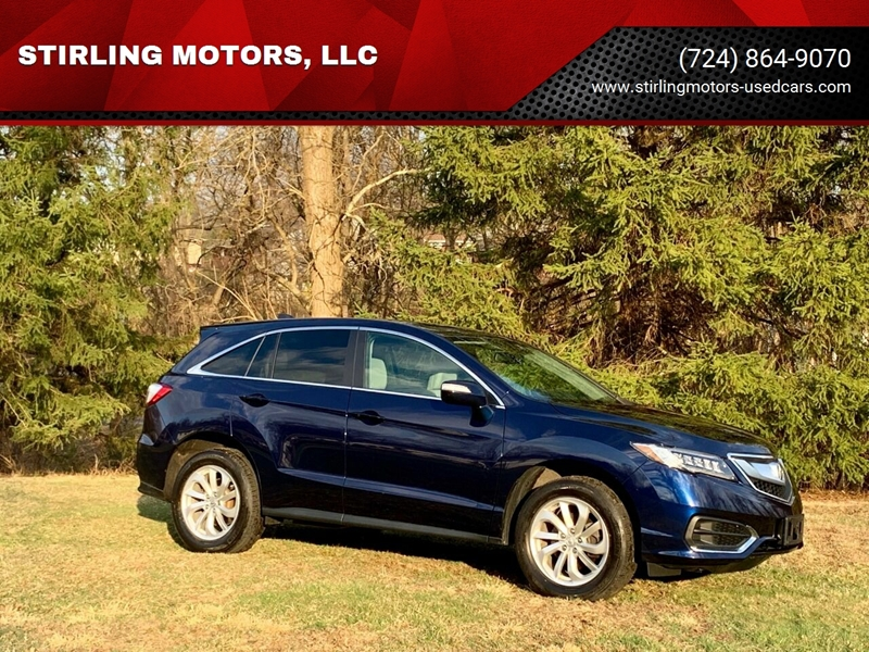 2016 Acura Rdx Awd 4dr Suv W Technology Package In Irwin