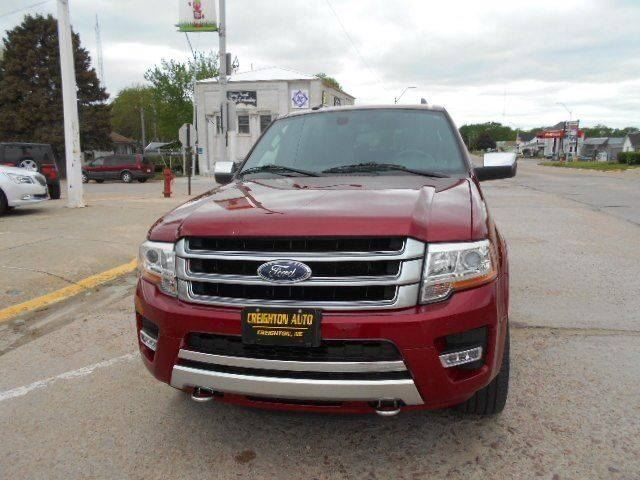 2016 Ford Expedition El 4x4 Platinum 4dr SUV In Creighton NE