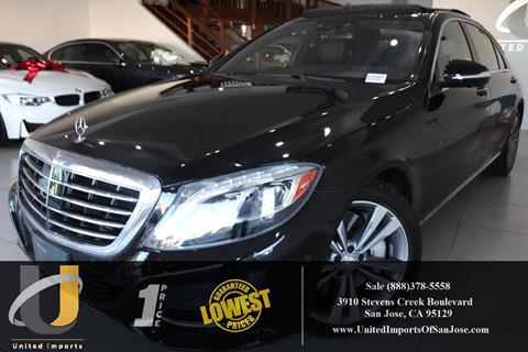 Mercedes San Jose >> 2015 Mercedes Benz S Class For Sale In San Jose Ca