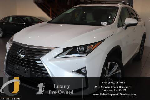 2017 Lexus RX 350 for sale at United Imports in San Jose CA